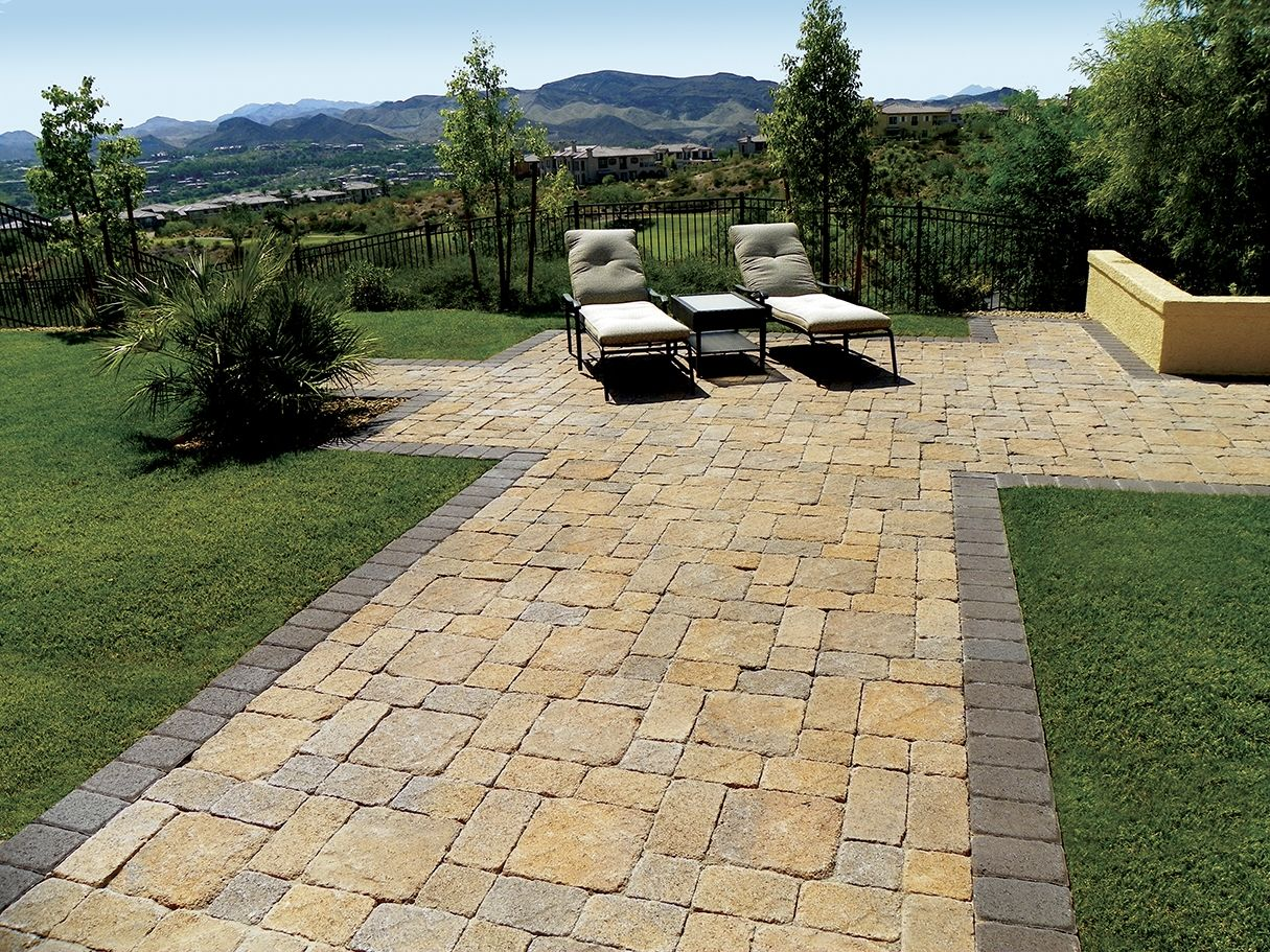 what a beautiful backyard santa barbara blend pavers stone landscaping