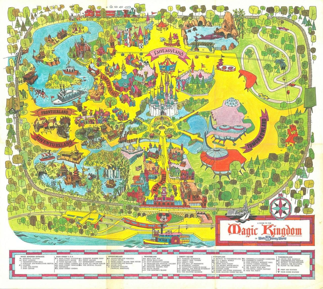 Maps on the web magic kingdom map opening day 1971 map stuff maps on the web magic kingdom map opening day 1971 sciox Gallery