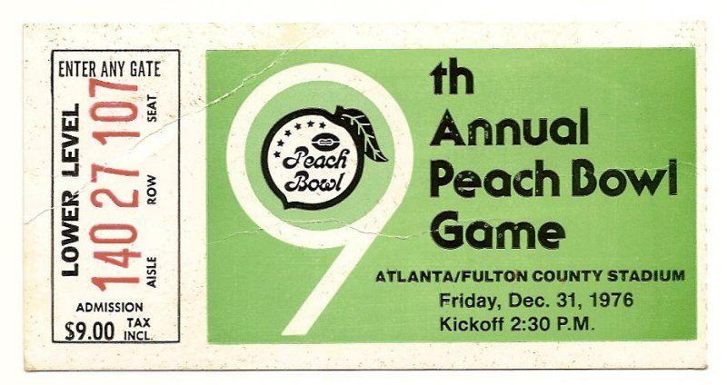 1976 Peach Bowl ticket stub Kentucky North Carolina....if ...