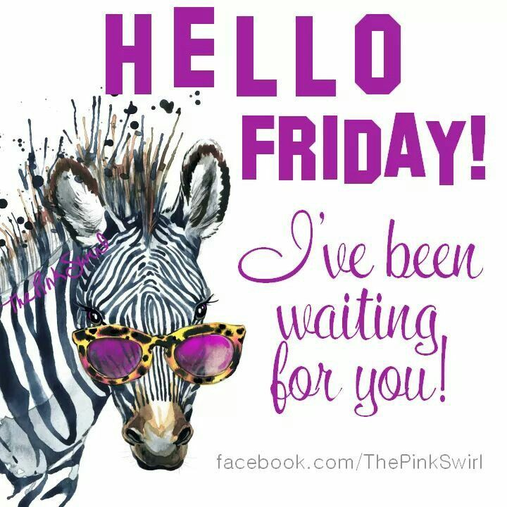 Hello Friday I Have Been Waiting For You! Friday Happy Friday Tgif Good  Morning Friday Quotes Good Morning Quotes Friday Quote Funny Friday Quotes  Quotes ...