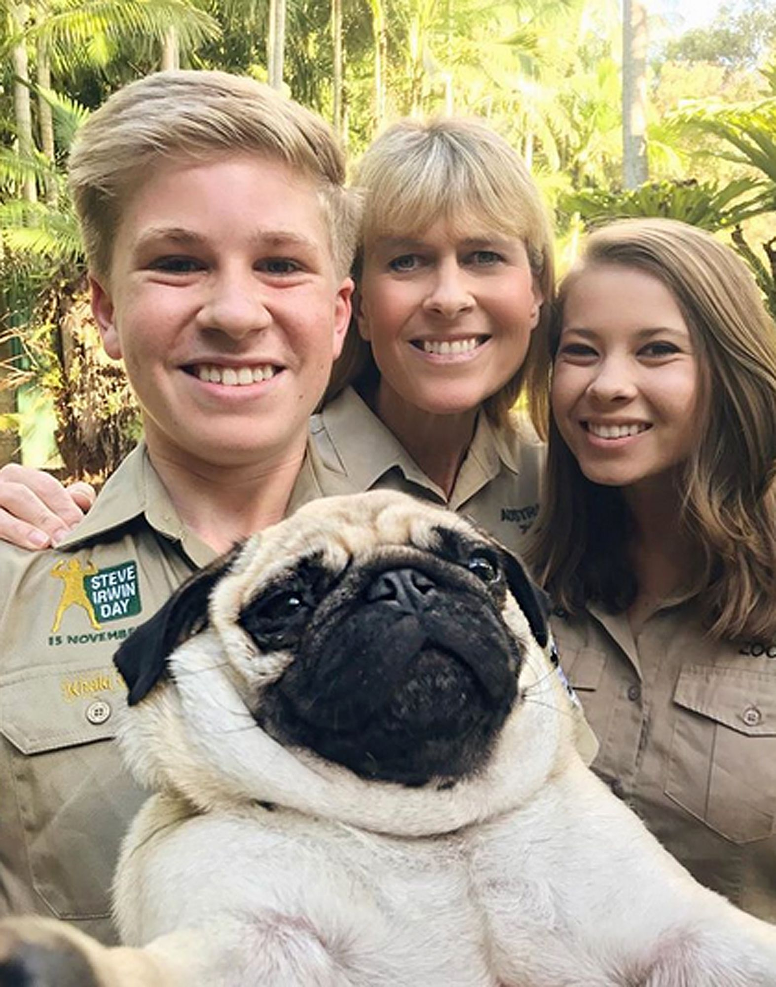 Crikey! The Irwins Have a Pug Named Stella and She Loves Koalas and Snakes  as Much as They Do
