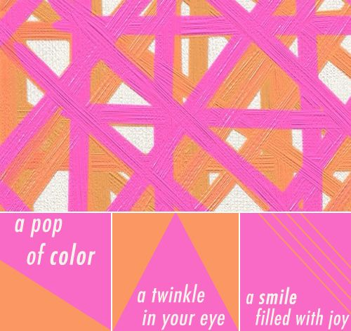Pink Orange Color Story Love This Combination Maybe With A Red Shade Over The