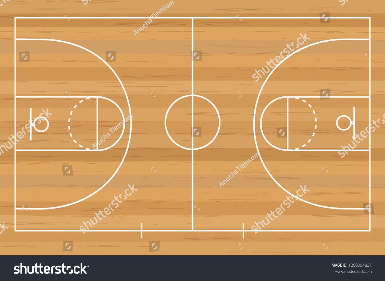 Basketball Court Floor Line On Wood Stock Vector (Royalty Free) 1260094837 #woodtexturebackground