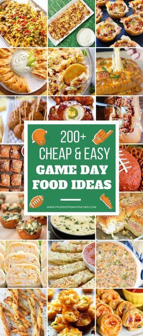 200 Cheap and Easy Football Party Foods