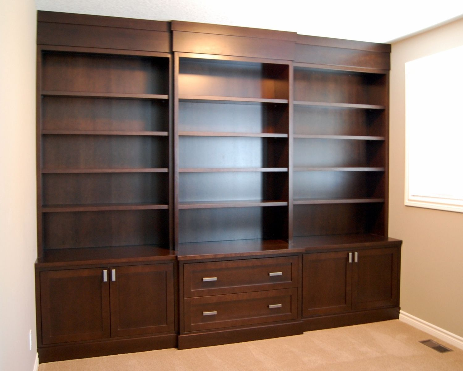 Parker House Leonardo Library Wall Unit Bookcase Set 2 Parker