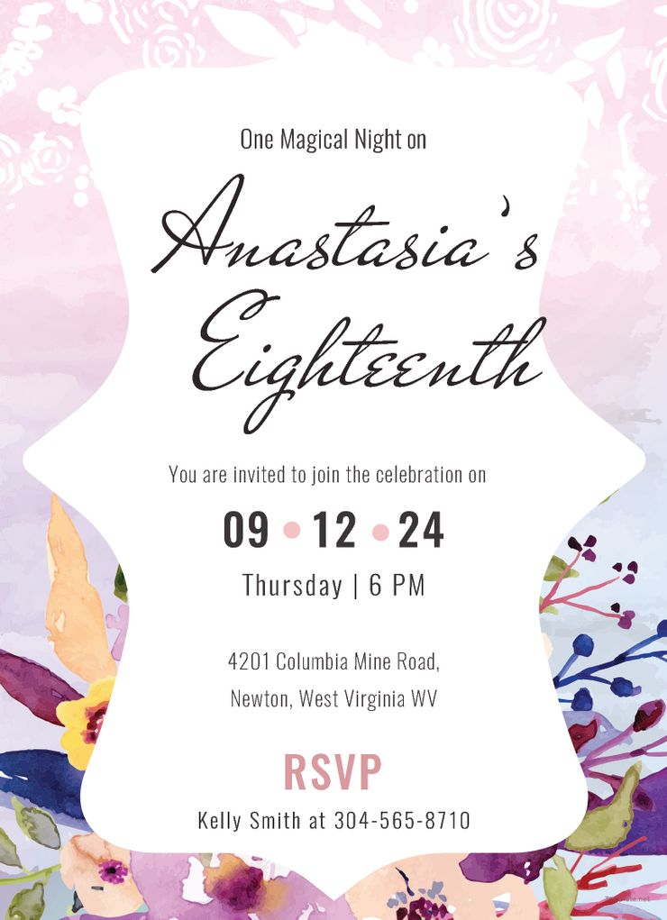 Free Pastel Debut Invitation Card Template Debut Invitation Invitation Layout Invitations