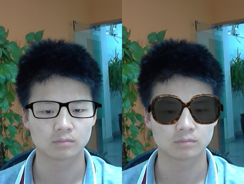 be8cec6fc3 Try on designer Sunglasses in a Virtual 3D Fitting Room like this pair of  Ray-