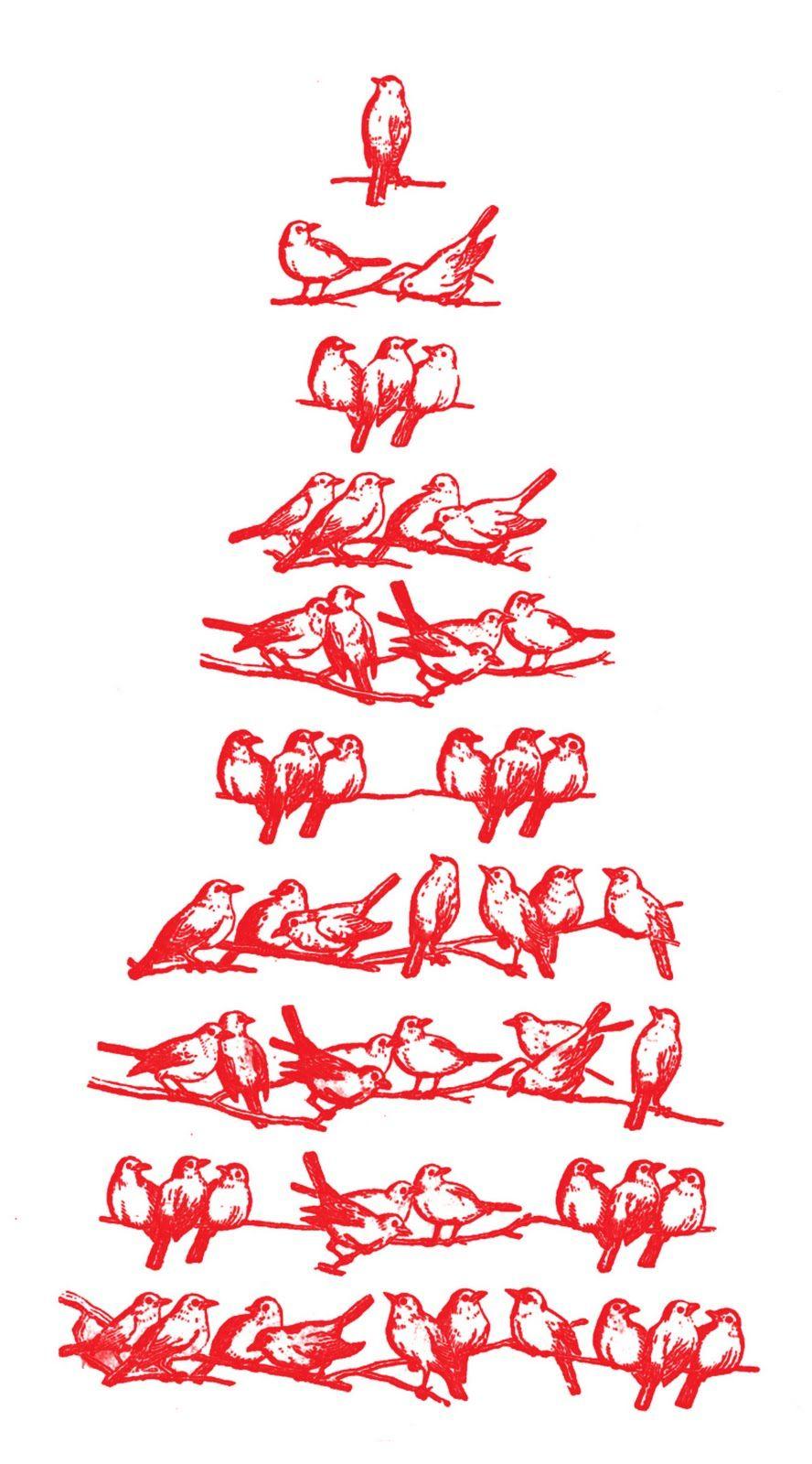 Diagram Vintage Birds Christmas Tree Image Charming