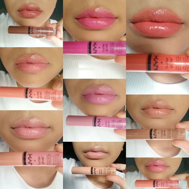 NYX Butter Gloss Swatches + Review,  #Butter #Gloss #NYX #permanentmakeuplidstrich #Review #S…