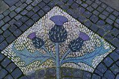 Mosaic next to the Scottish National Portrait Gallery, Queen Street, Edinburgh