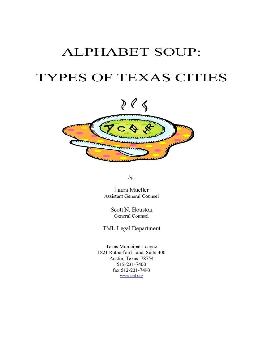 Alphabet Soup: Types of Texas Cities, by Laura Mueller and