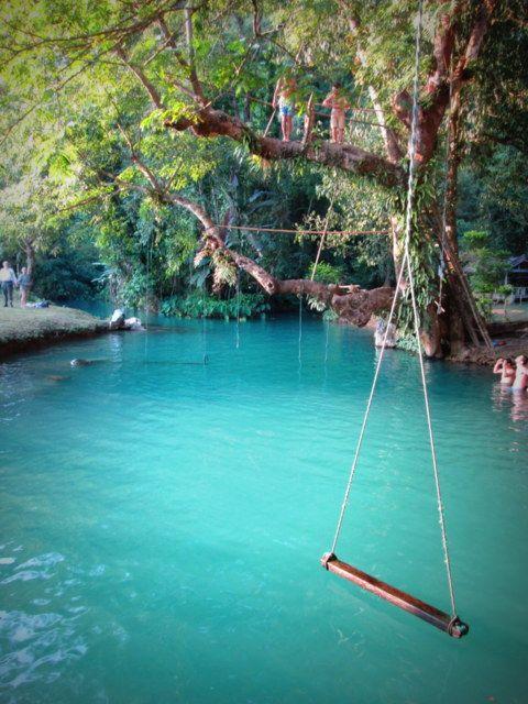 Blue Lagoon Vang Vieng Laos Laos Travel Places To Travel Asia Travel