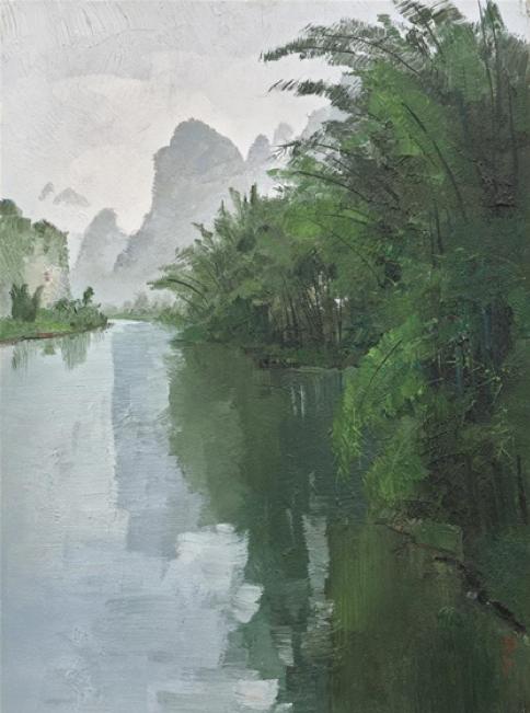 Bamboo Forest of the Lijiang River/Wu Guanzhong