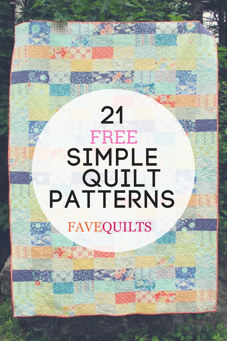 Quilting For Beginners 21 Simple Quilt Patterns Easy Quilt