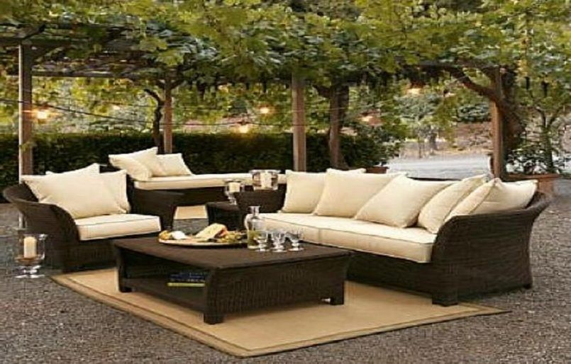 Outdoor Brown Modern Varnished Wooden Conversation Set With Glass Also Food  And Outdor Lighting Besides Cheap