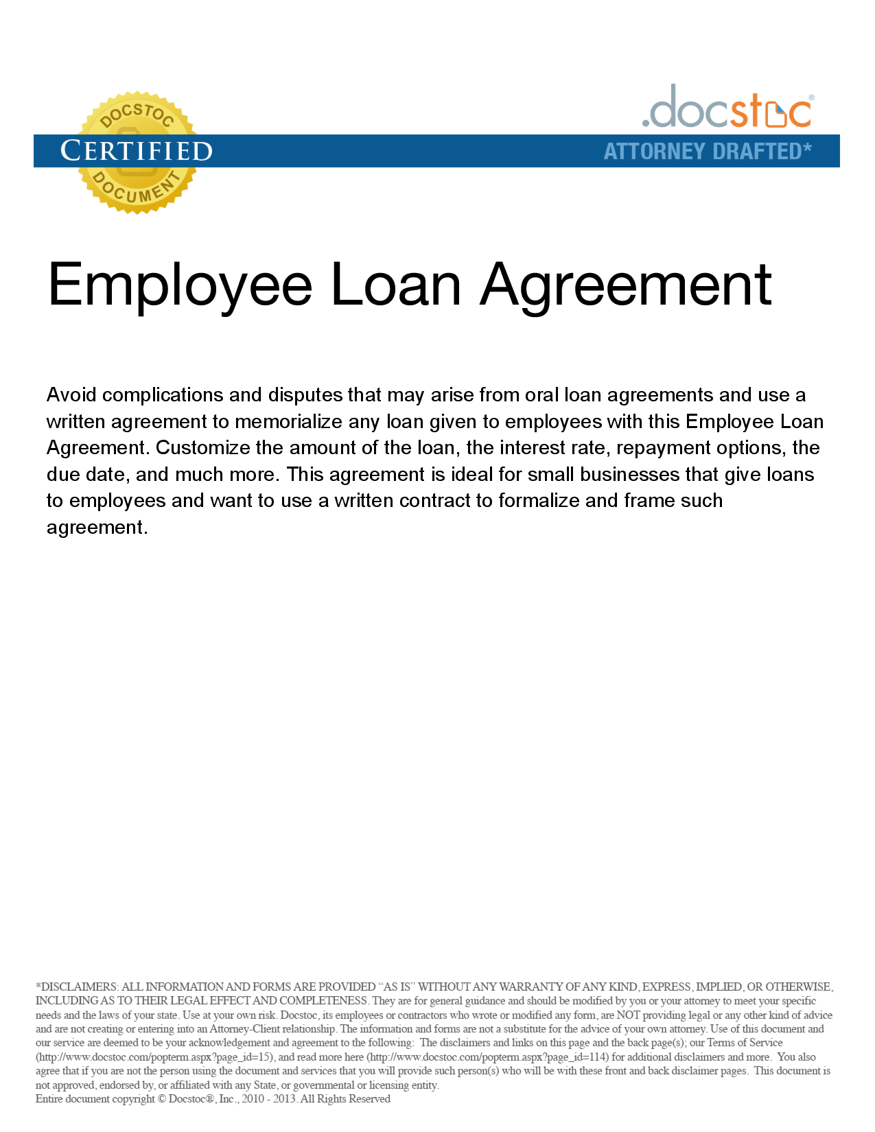 Personal Loan Repayment Agreement Template