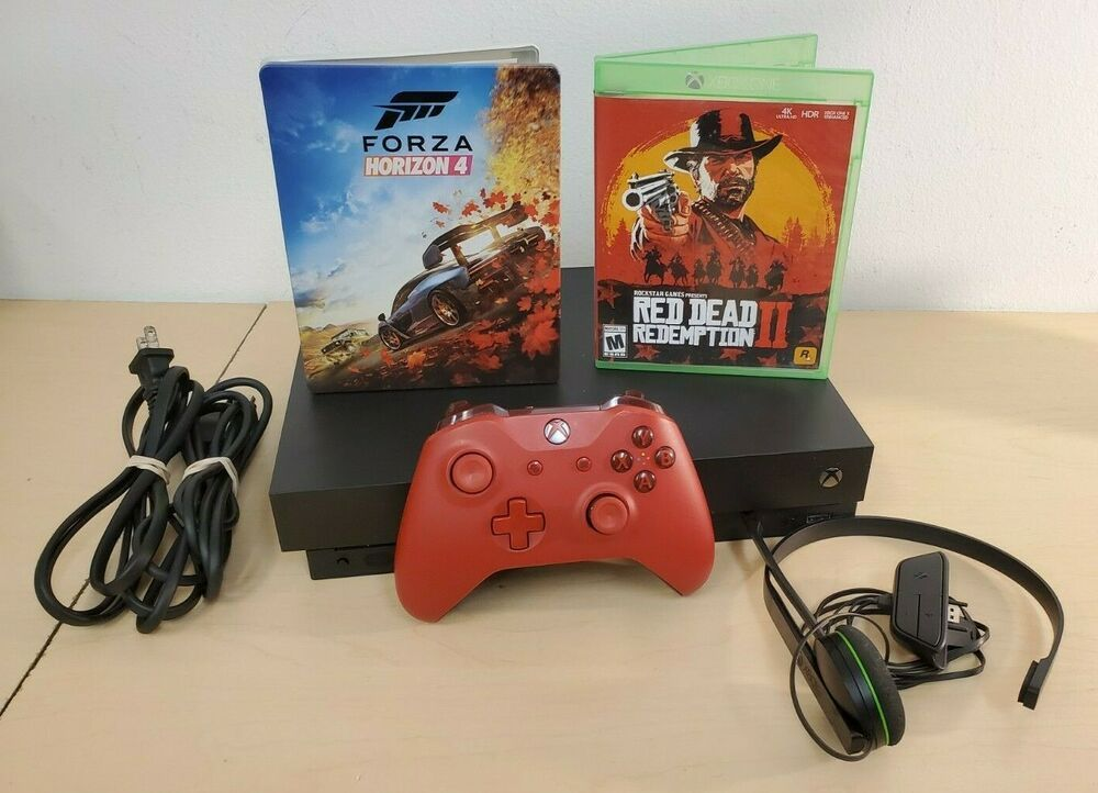 Microsoft Xbox One X 1tb Bundle With Red Dead Redemption 2 And Forza Horizon 4 Xboxone Xbox Game Xbox One Xbox Red Dead Redemption