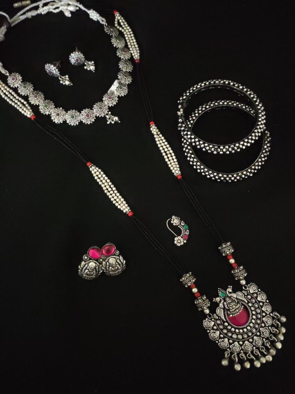 oxidised jewllery oxidized jewelry partywear necklace women necklace indian necklace traditional necklace