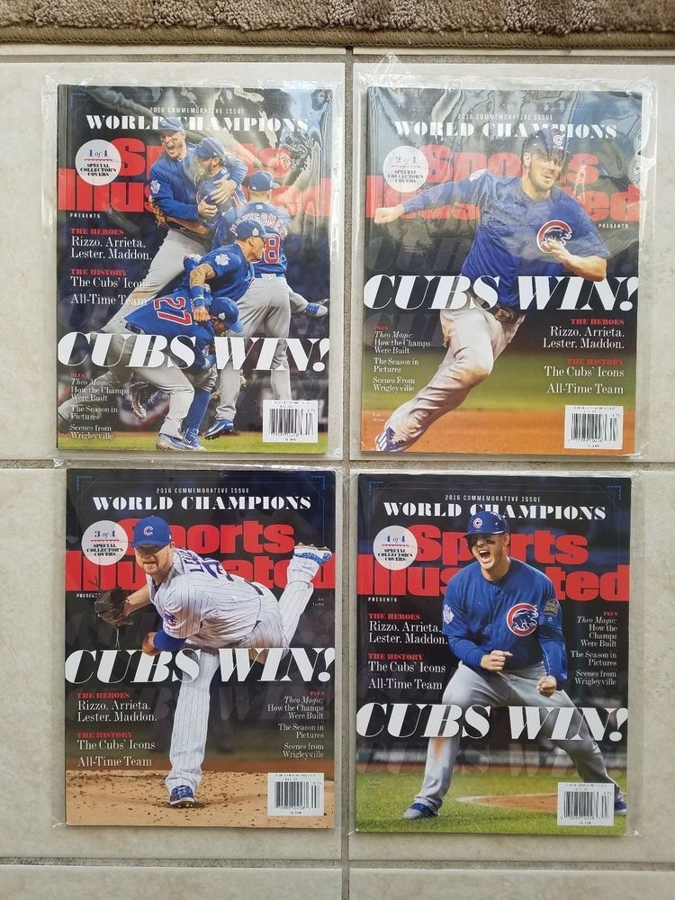 Chicago Cubs 2016 World Series Champs Sports Illustrated Magazine