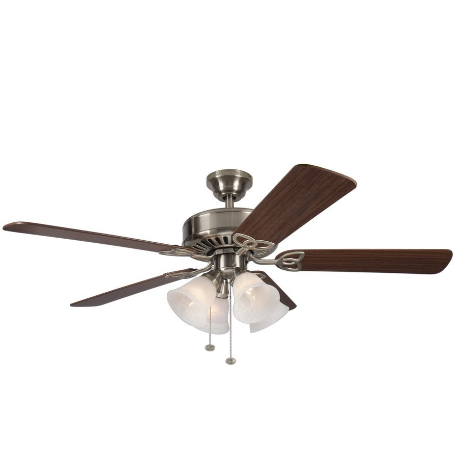 Shop harbor breeze springfield ii 52 in brushed nickel downrod or shop harbor breeze springfield ii 52 in brushed nickel downrod or flush mount ceiling fan aloadofball Choice Image