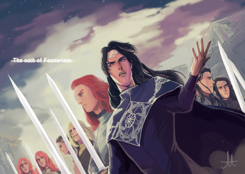 The Oath of the Feanorians. Am I the only one who notices ... Oath Of Feanor