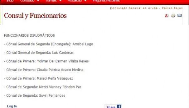 Tanta bulla del Presidente Maduro y ni en el portal del gobierno aparecía Carvajal como Cónsul