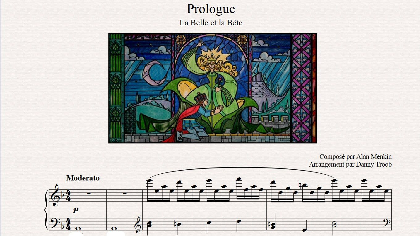 Prologue From Beauty And The Beast Piano Sheet Music Piano