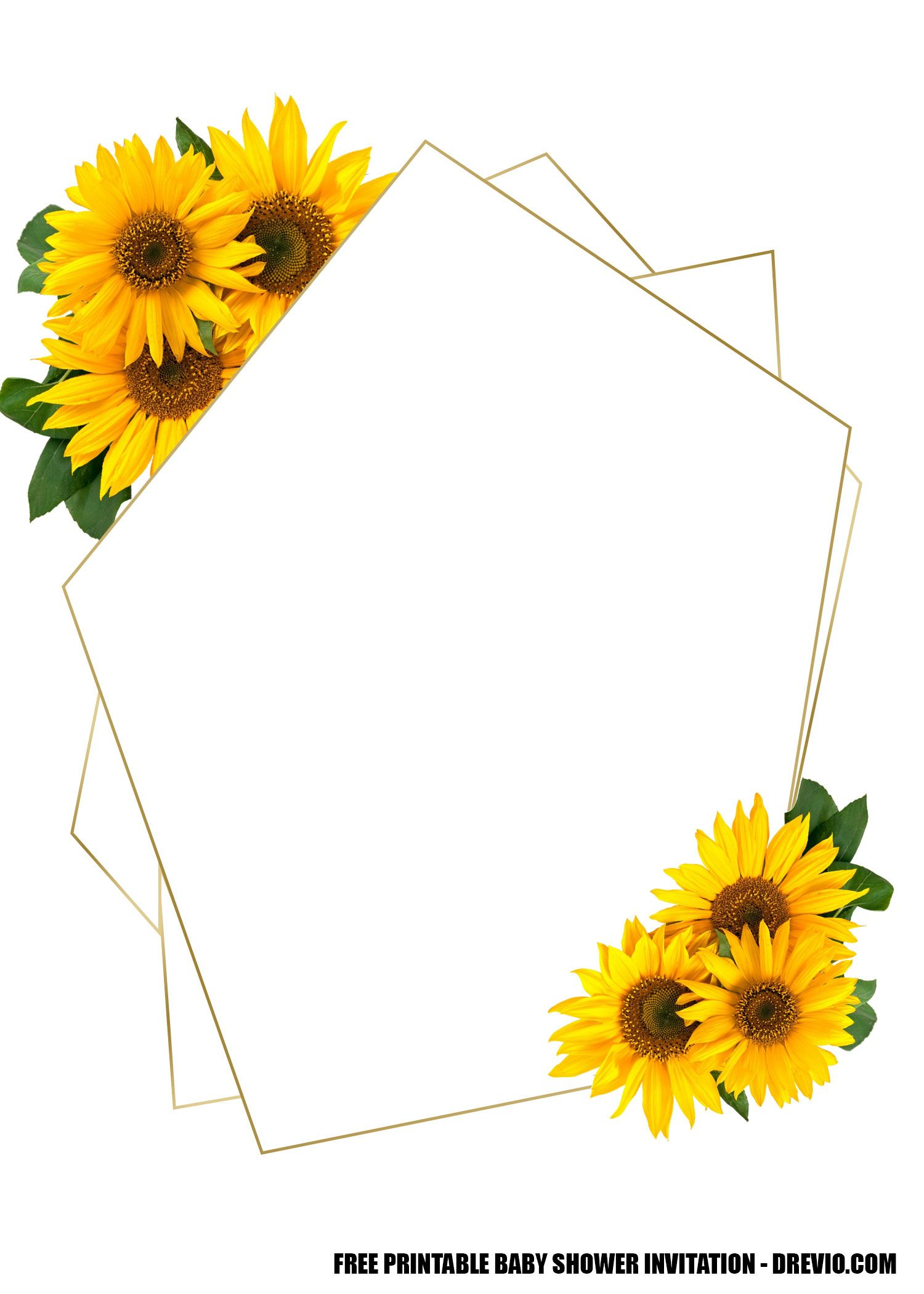 Free Printable Template Oh Baby Sunflower Baby Shower For Girl Baby Drevio In 2020 Sunflower Baby Showers Sunflower Baby Shower Invitations Sunflower Invitations