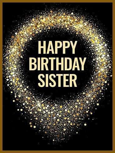 Diese schicke und stilvolle Geburtstagskarte ist die perfekte Art Ihre fantastische Schwester an ihrem großen Tag zu feiern Wie Flitteralles Gute zum Geburtstagkart...