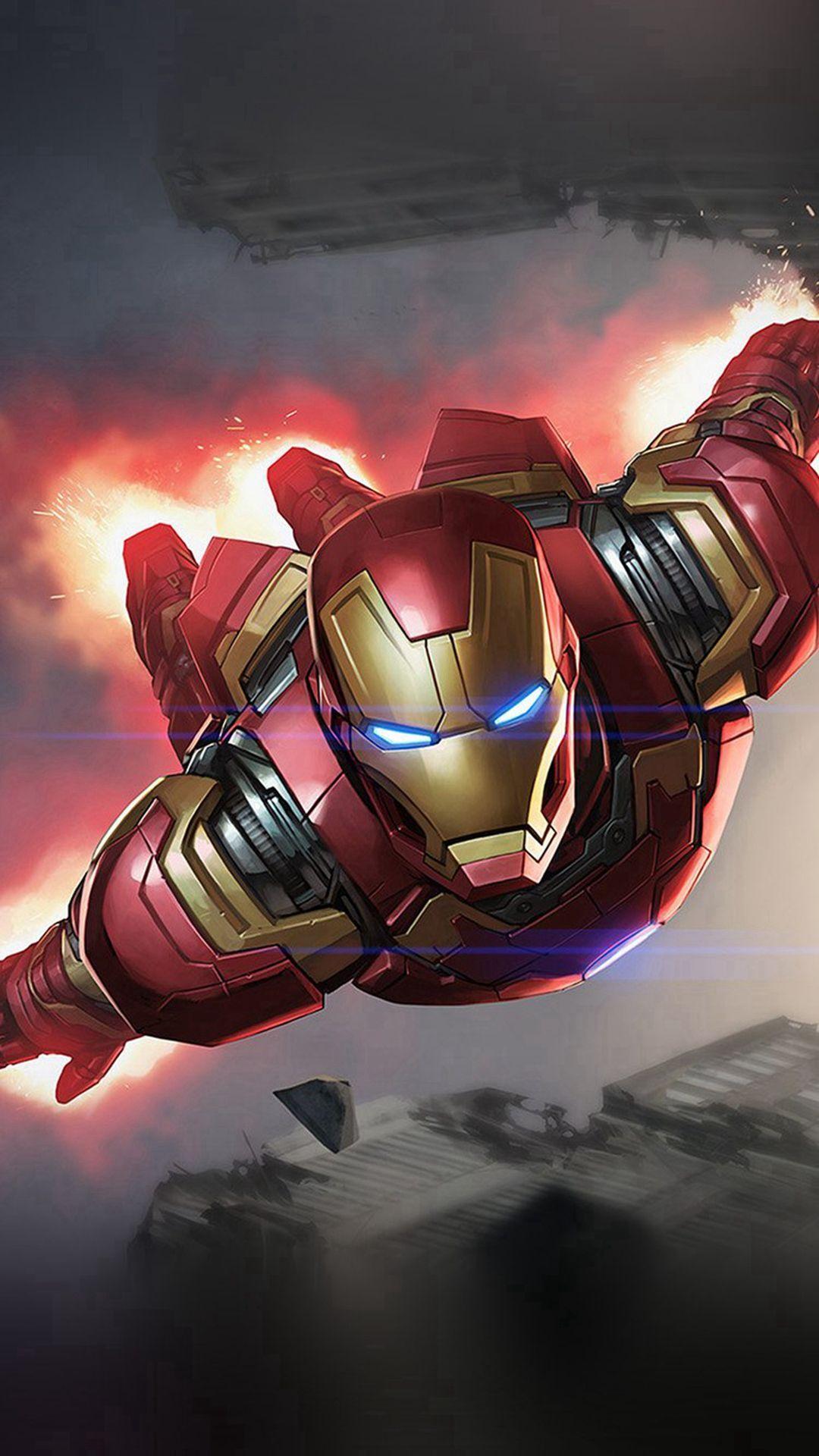 Ironman Hero Marvel Illustration Art iPhone 6 wallpaper