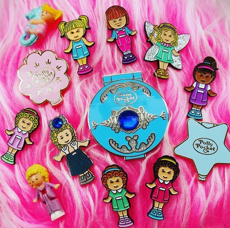 Polly Pocket pins