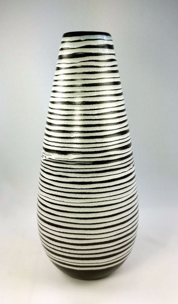 Haeger Potteries 12 In Brown White Spiral Teardrop Vase One Off Designer Studio Pottery Art Pottery Design