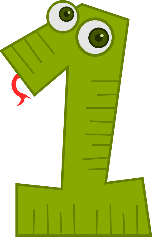 Clipart Number Animals 1 Numbers Preschool Number Crafts Eureka Math