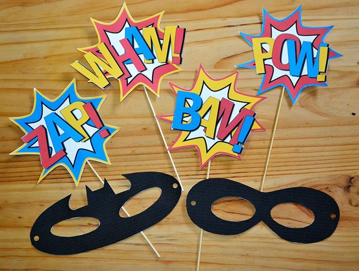 Image result for superhero party props