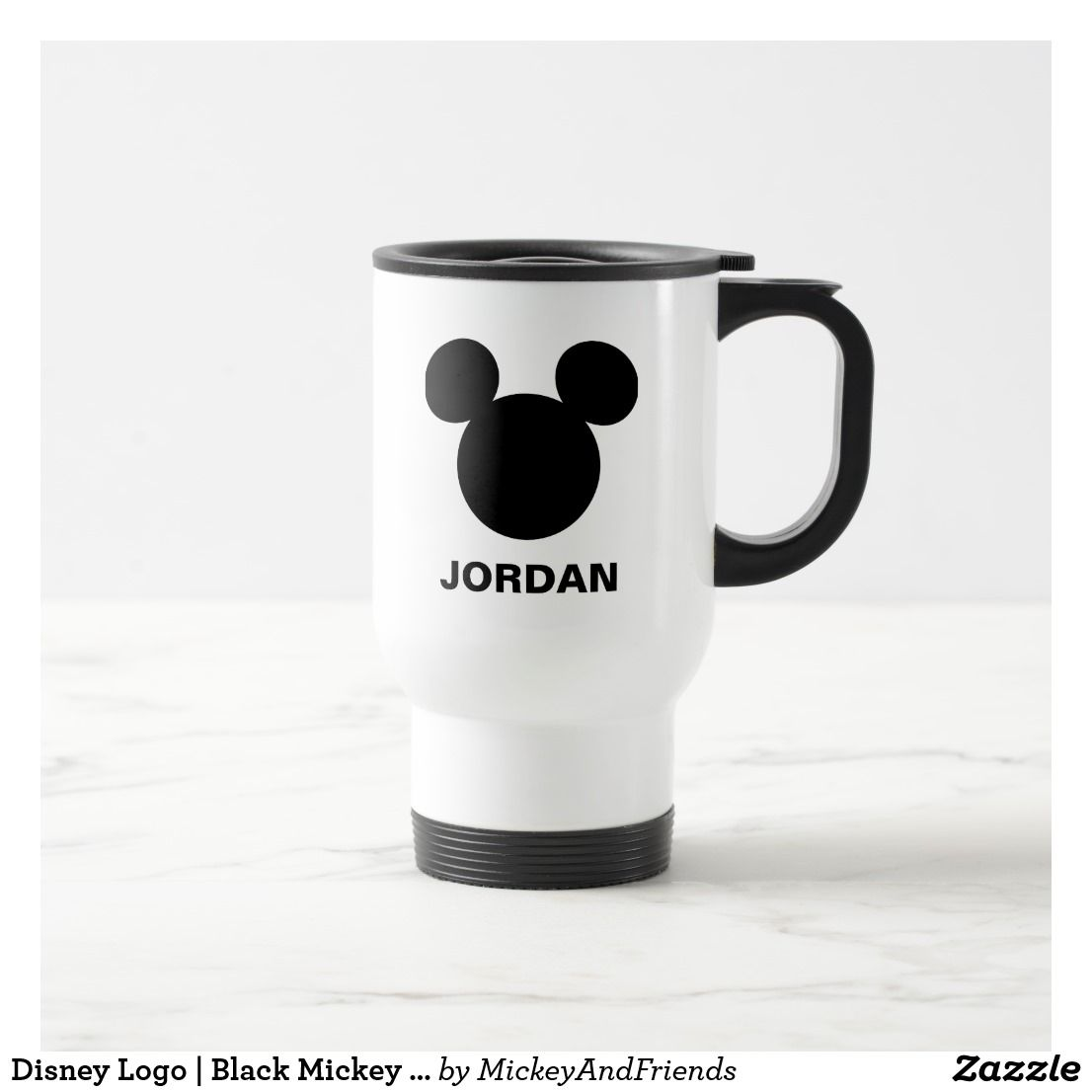 Disney Logo Black Mickey Icon