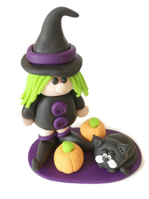 Halloween Cake Topper, Witch Cake Topper, Halloween Ornament, Witch - halloween cake decorations