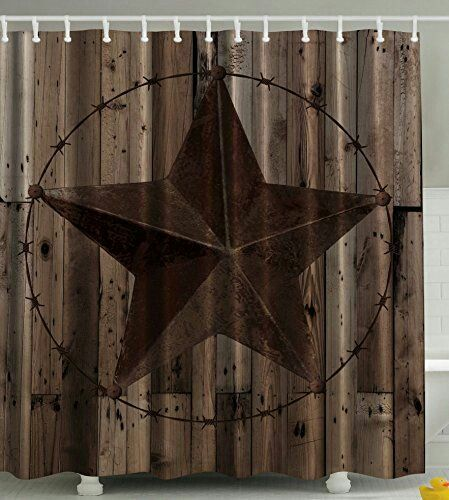 Rustic star shower curtain | future home ideas | Pinterest