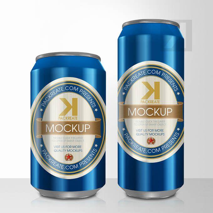beer can psd mockup blue packaging mockups pinterest mockup