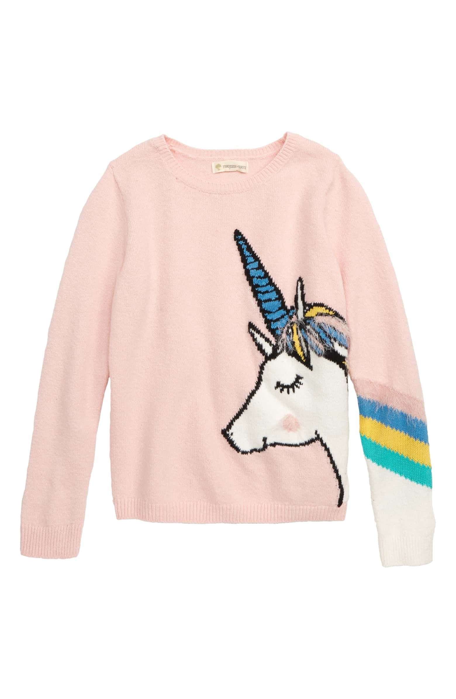 e4d6f684fa51 Unicorn Icon Sweater, Main, color, PINK PEACHSKIN BOLD UNICORN Tucker Tate,  Little