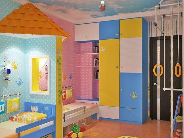 Kinderzimmer Komplett Gestalten U2013 Wenn Junge Und Mädchen Einen Raum Teilen  Müssen   Kinderzimmer Komplett Mit Bunten Händeabdrucken Babyroom Kidsroom