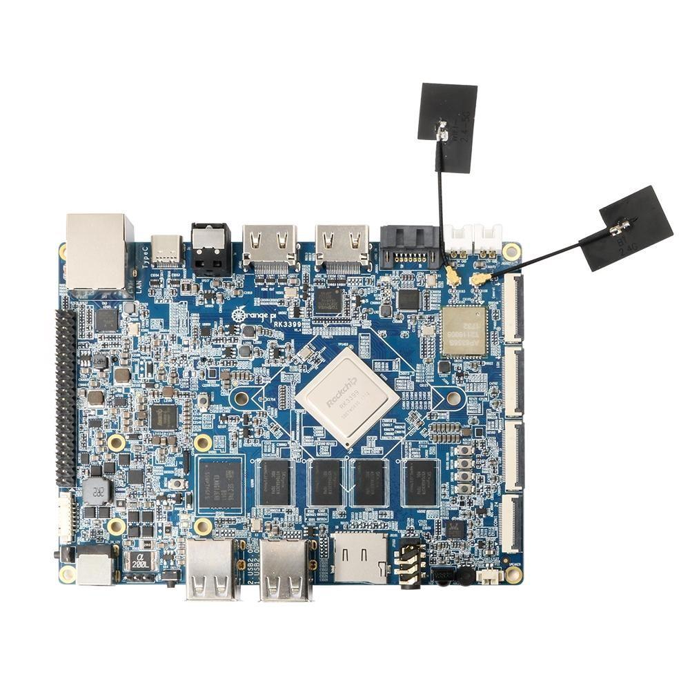 Orange Pi RK3399 2GB DDR3 16GB EMMC Cortex-A72 Type-C Double