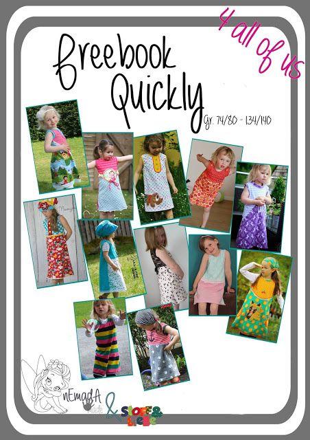 Freebook Quickly Kinderkleid 74 - 140   sewing for grandkids ...