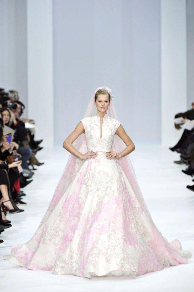 Elie Saab Pink Wedding Dress