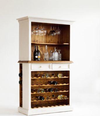 Buffet - Anrichte mit Weineinsatz Kiefer weiss \/ honigfarben Jetzt - wohnzimmer kiefer weis