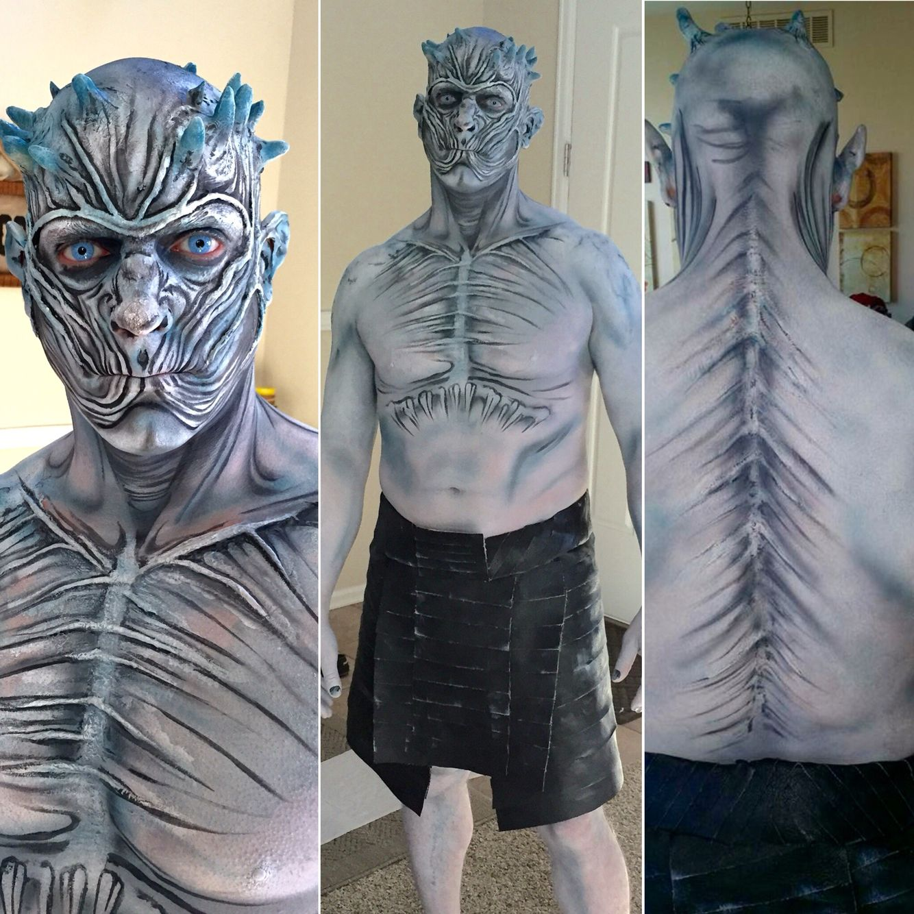 game of thrones white walker body painting for halloween