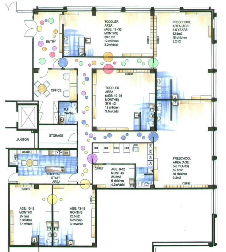 daycare floor plans for project | at home daycare/preschool