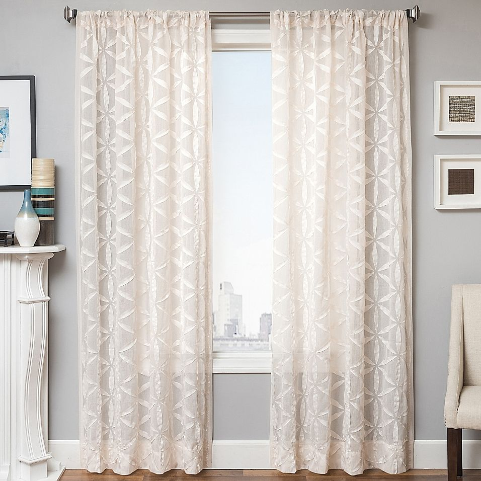 Celestia 108 Window Curtain Panel In Natural Panel Curtains