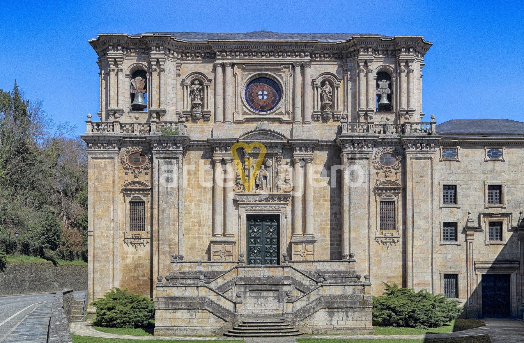 Monasterio De Samos Lugo Vista De La Fachada De Estilo Barroco Monasteriodesamos Barroco Lugo Galicia Arquitect Fachadas De Iglesias Monasterios Samos