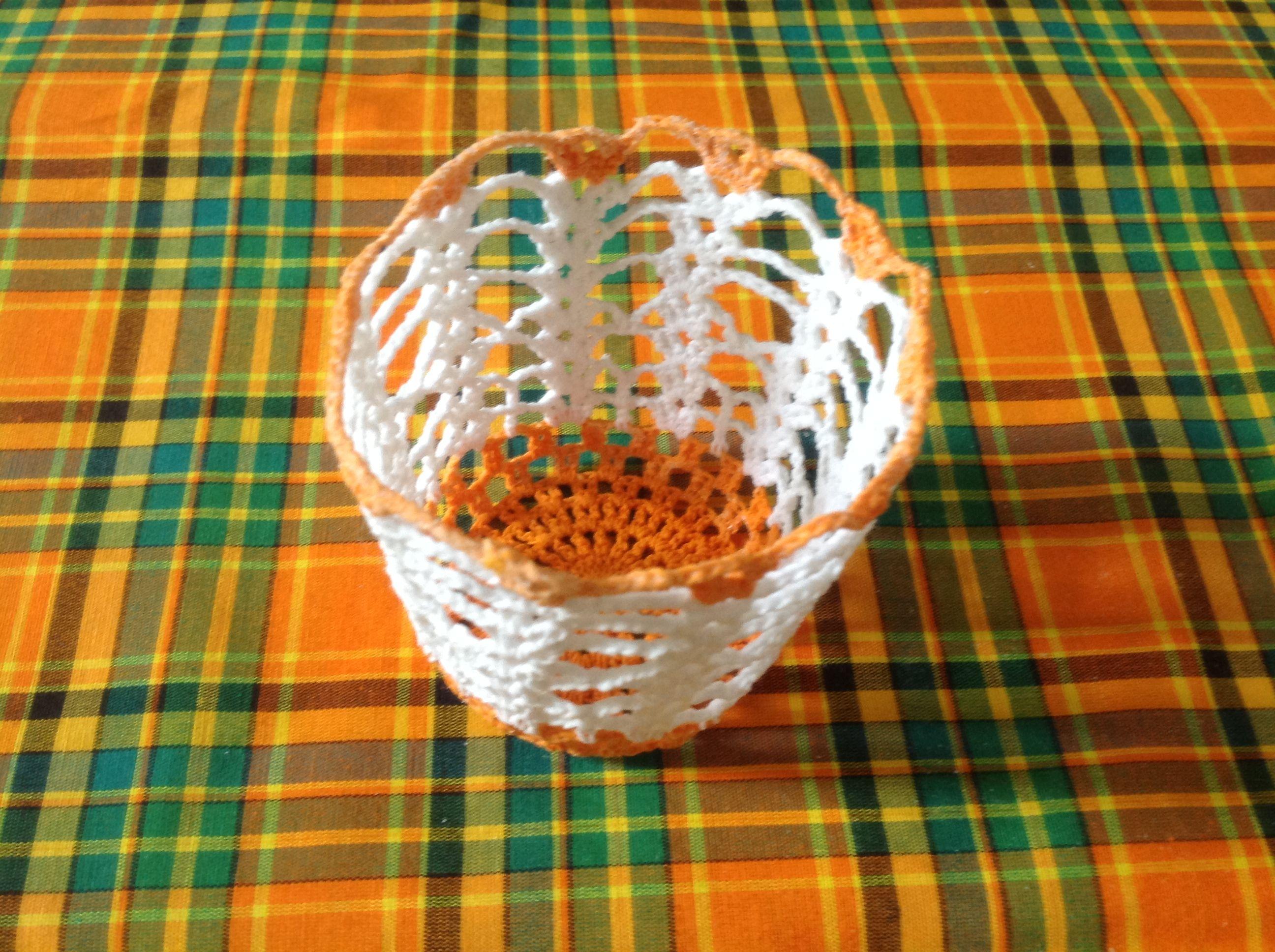 Petit Corbeille Au Crochet Fais Part Tikreole