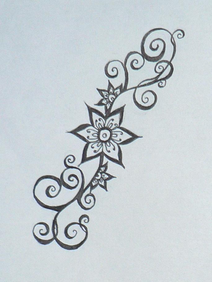 Simple Henna Flower Designs Smaller Henna Flower Design By